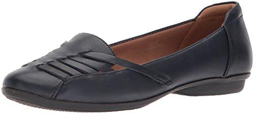 Clarks Kvinna Gracelin Gemma Platt Marinblå Läder
