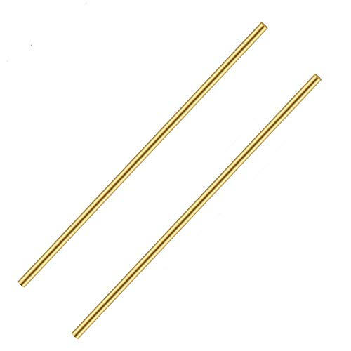 2 Pcs 8 mm/5/16 Solid Round Brass Rod Brass Bar Stock Lathe Bar Stock Kit Suitable for Lathe Turning,Knife Handles, DIY Craft,8mm/5/16 inch in Diameter 12 Inch in Length,C27400