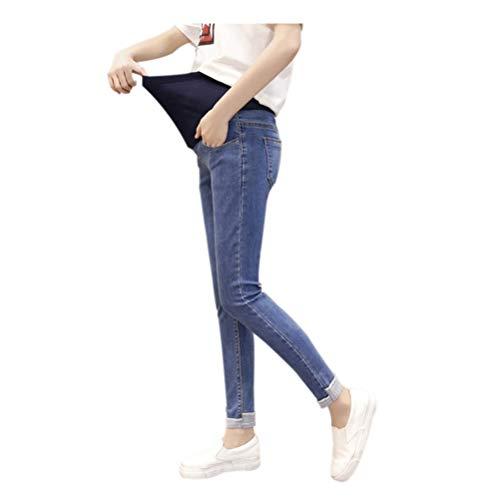 Ajustable Bleu Hzjundasi vrac lastique Maternit jeans En Enceinte Dchir Gland Pantalon Bleu Style 9 zwFSq