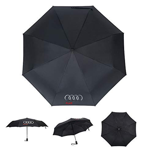 Patricon Fully Automatic Sport Open Large Folding Black Umbrella Windproof Sunshade with Car Logo for Audi Accessory