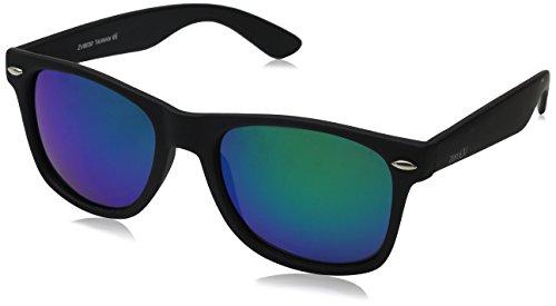 zeroUV ZV-8030f Polarized Wayfarer Sunglasses, Black, 58 mm