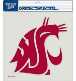 NCAA Washington State University 80724010 Perfect Cut Color Decal, 8