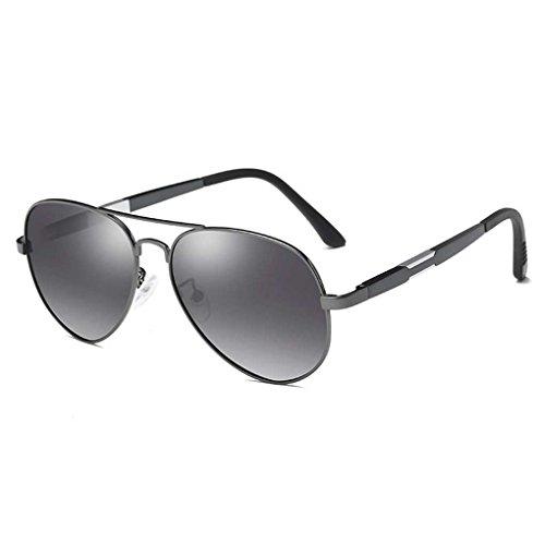 Sol Marco de Color Metal polarizada Coolsir Providethebest 4 Doble la Boy de Eyewear Hombres Gafas Manera luz Gafas de Sol piloto de los de de gwdWvqWf