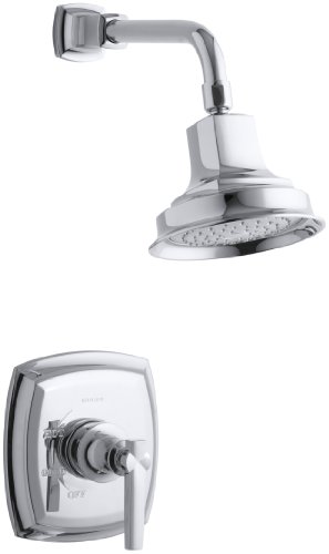 KOHLER TS16234-4-CP Margaux(R) Rite-Temp(R) Shower Valve Trim with Lever Handle and 2.5 gpm showerhead, 1
