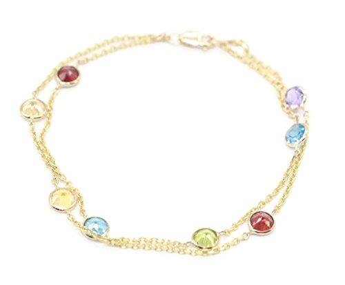 Sophia Fine Jewelry Multi-Color Gemstone Double Layer 7