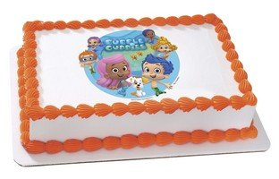 Bubble Guppies Edible Cake Cupcake or Cookies image Topper (6'' Round) by Whimsical Practicality