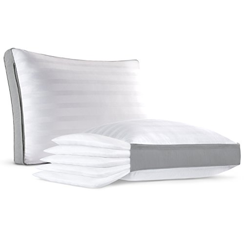 The Ultimate Comfort Stack Pillow - Adjustable 5 Layer Pillow - Add/Remove Layers to Customize Your Pillow Height - Ultra Plush & Hypoallergenic - Queen