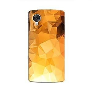 Cover It Up - Gold Sunrise Pixel Triangles Google Nexus 5 Hard Case