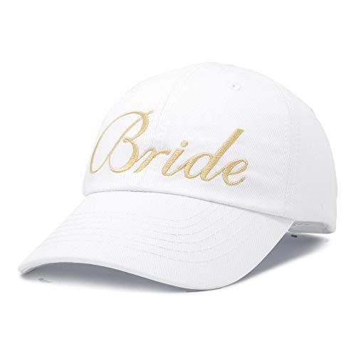- DALIX Bachelorette Party Hats Bride Squad Dad Caps Wedding Bridal Shower White