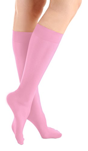 Mix Graceful - Microfiber Knee High Skating Tights (Graceful Pink)