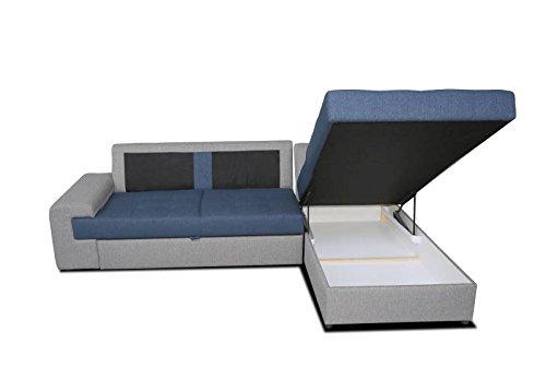 Polstermöbel Marcos mit Staukasten und Bettfunktion – Abmessungen: 260 x 175 cm (L x B) - Ottomane: Rechts