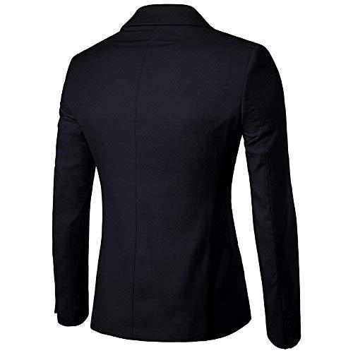 Traje Boda Esencial Prom Botón Slim Abrigo Elegante Blazer Fit De Hombre Un Schwarz Chaquetas 87xWF8qr6