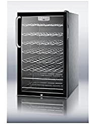 Summit SWC525L7CSSADA Wine Chiller Beverage Refrigerator, Glass/Black
