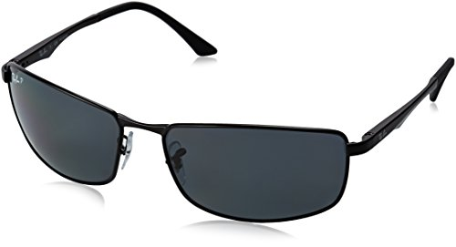 Ray-Ban RB3498 Sunglasses 00681-64 - Matte Black Frame Polar Gray