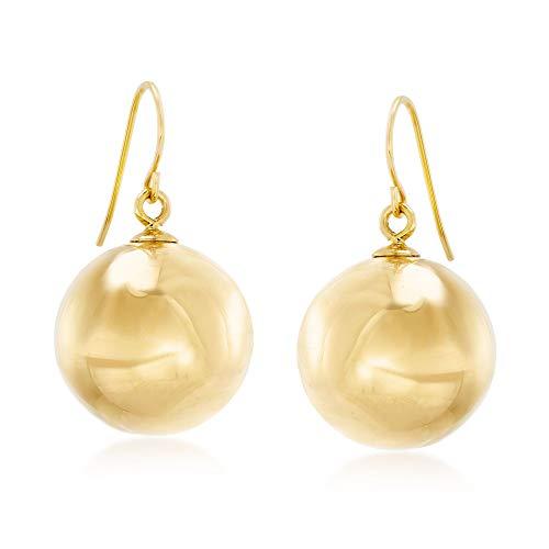 (Ross-Simons Italian Andiamo 14kt Yellow Gold Bead Drop Earrings)
