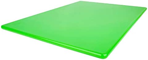 18 x 12 x 1 Inch Restaurant Thick Green Plastic Cutting Board NSF and FDA Approved
