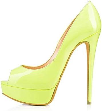 Chaussures à Talons Hauts Matériau en polyuréthane Cousant Une Plateforme imperméable Chaussures à Bouche de Poisson Chaussures de Banquet (Couleur : F, Taille : 45)