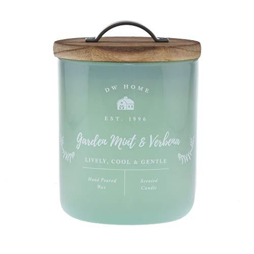 DW Home Garden Mint & Verbena Scented Candle.Medium Single Wick