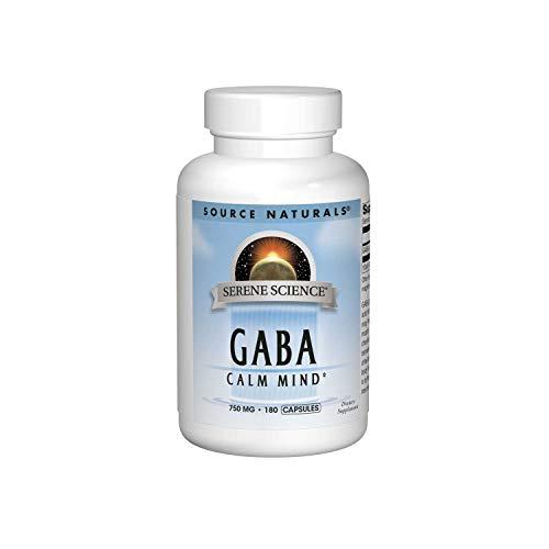 Source Naturals Serene Science GABA 750 mg Calm Mind - 180 Capsules