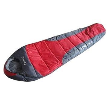 Indispensable Everest rojos y grises 350 saco de dormir (Neoteric diseño) (B77): Amazon.es: Deportes y aire libre