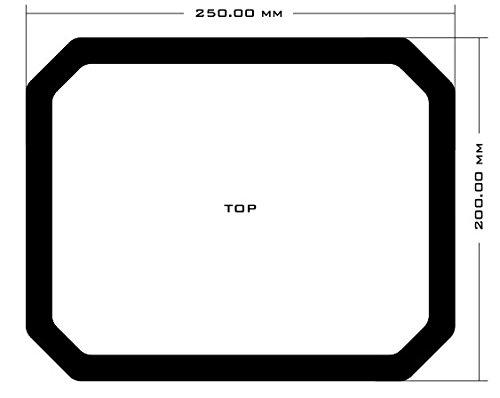 DEMCiflex Dust Filter for Cooler Master HAF 912, Top, Black Frame, Black Mesh