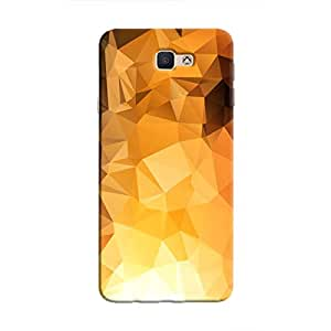 Cover It Up - Gold Sunrise Pixel Triangles Samsung Galaxy J5 Prime Hard Case
