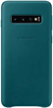 Leather Cover Für Galaxy S10 Grün Elektronik
