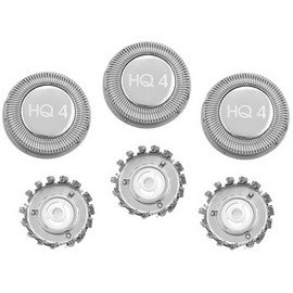 Price comparison product image ShaverAid HQ4R Electric Shaver Heads. Replaces Norelco HQ4 Heads.