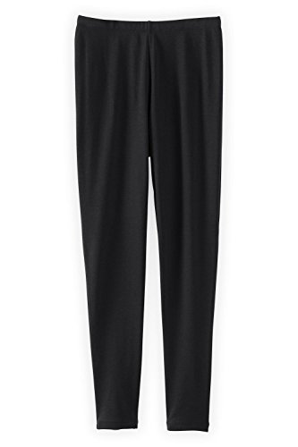 Fair Indigo Fair Trade Organic Cotton Ankle Length Leggings (XL, Black) ()