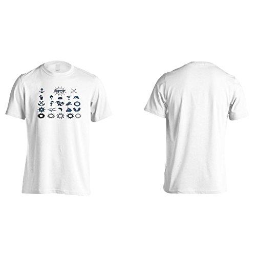 Neue Sommerabzeichen Seeschiff Herren T-Shirt l144m