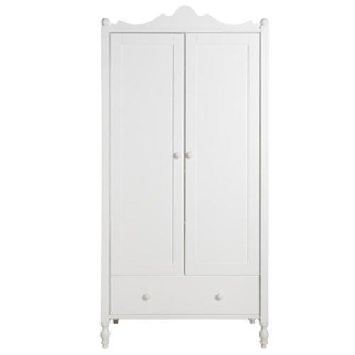 Bopita Belle Kleiderschrank | zweitürig | weiß | B 104 x T 61 x H 212cm