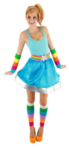 elope Rainbow Brite Arm And Leg Warmer, Multi-Colored, One Size (Adult Leg Warmers)