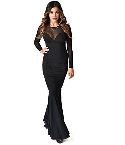 Morticia Dress (Collectif Black Fishtail Morticia Wiggle Gown)