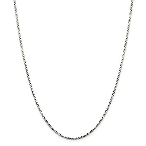 925 Sterling Silver 1.75mm Round Link Box Chain Necklace 16 Inch Pendant Charm Fine Jewelry Gifts For Women For Her - Sterling Link Cable Silver 4mm