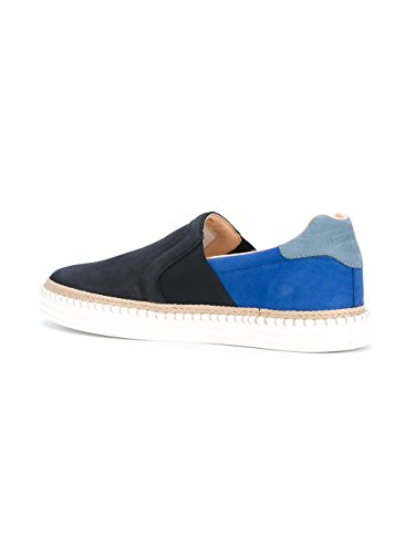 Hogan Rebel Slip On Sneakers Uomo HXM2600X5406RN0XRL Camoscio Blu