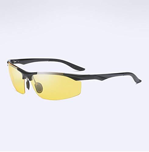 - YID Car Cradles Aluminum-Magnesium Polarized Night Vision Goggles Men's New Half-Frame Driving Mirror Night Driver's Glasses,Black