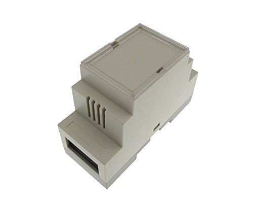 HQ Plastic Project Box Enclousure DIN Rail Mounting DIY 36x87x60mm - White