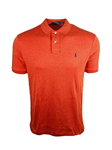 Polo RL Men's Interlock Pony Shirt-Orange-XL (Polo Ralph Online)