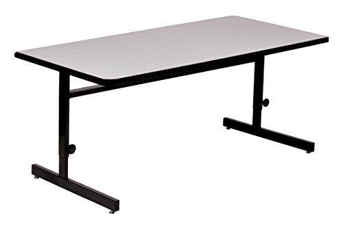 Correll 30 x48 Adjustable Height Training Computer Tables, Gray Granite High Pressure Laminate, Computer Work Station CSA3048-15