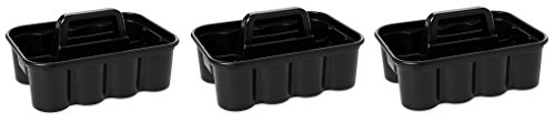 Rubbermaid Commercial Deluxe Carry Cleaning Caddy, Black (3 X CARRY CLEANING CADDY) by Rubbermaid Commercial Products