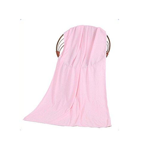 スーパーソフト水Absorbantマイクロファイバータオルビーチバス水泳Fast Dryボディラップタオル ピンク Home-001 B06XYL1Q8Z ピンク