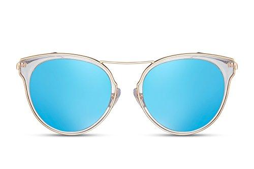 Gold2 Lentes UV400 Gafas Espejadas de Sol Cheapass Metálicas 1wqZ0Rt1n