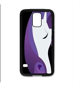 Samsung Galaxy S5 SV Black Rubber Silicone Case - Rarity pony