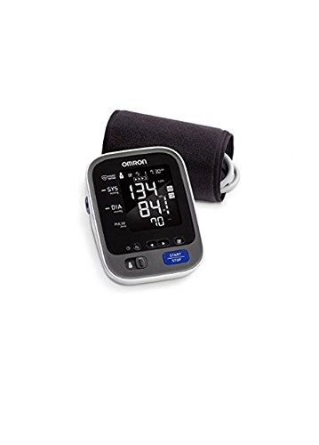 Omron BP791IT 10+ Series Upper Arm Blood Pressure Monitor, Black/White, Large