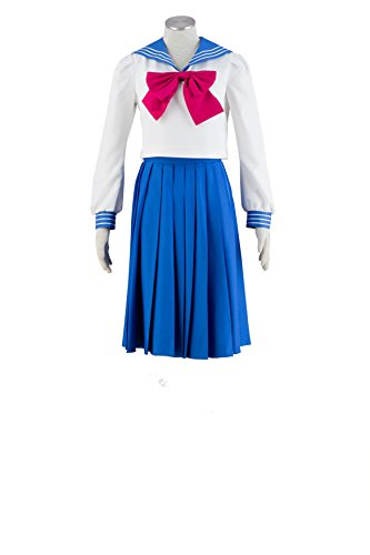 OURCOSPLAY Women's Sailor Moon Tsukino Usagi Mercury Cosplay Costume 4 Pcs Set (Women S)
