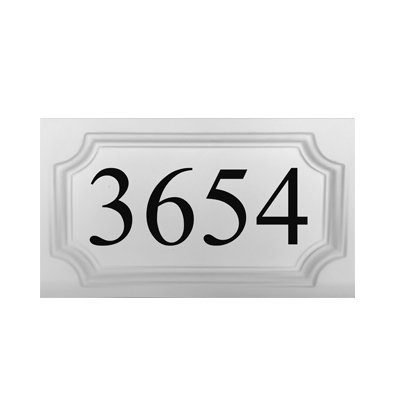 ABC Address Blocks Personalized Address Plaque 9'' x 16'' Medallion Style. Cast Stone. Engraved. by ABC Address Blocks (Image #3)