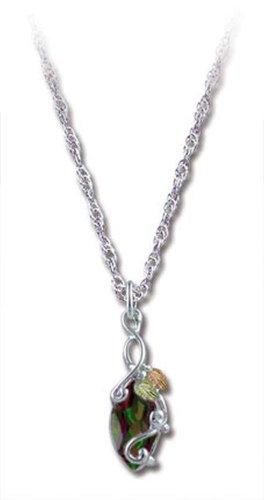 Gold Mystic Fire Topaz Pendant - Landstroms Black Hills Silver Mystic Fire Topaz Pendant Necklace, 18
