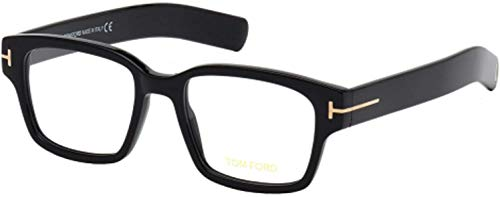 Tom Ford FT 5527 001 Black Plastic Square Eyeglasses 50mm