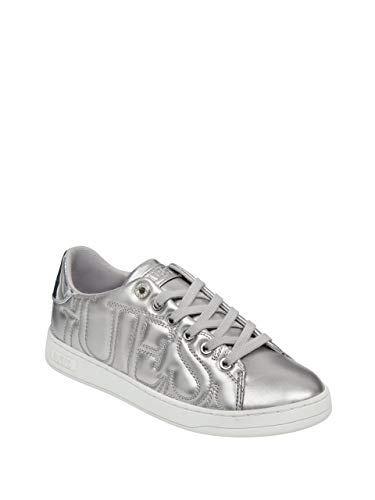 Guess Women's CESTIN Sneaker, Silver, 7.5 M US from Guess