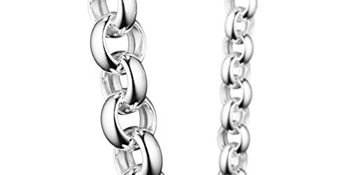 Clio Blue Bracelet chaîne maille jaseron Les intemporels en argent 925, 20.8g